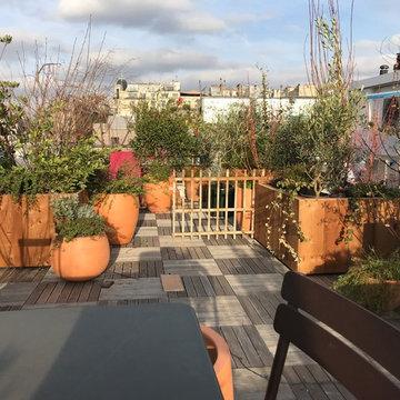 toit terrasse imaginé comme un jardin au dessus du Moulmin Rouge