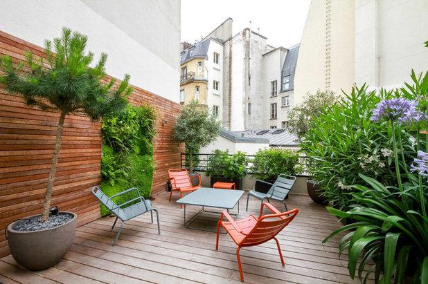 Contemporáneo Terraza y balcón by Terrasses des Oliviers - Paysagiste Paris
