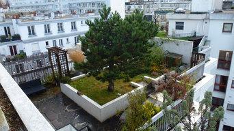 Toiture terrasse jardin au R+8