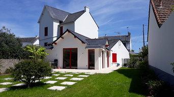 Travaux de rénovation et d'extension d'une petite maison très basse
