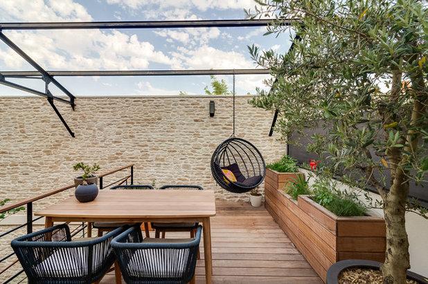 Contemporain Terrasse en Bois by FAAR - Paysagiste Concepteur