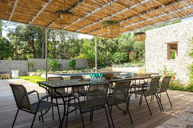 Éclectique Terrasse en Bois by Delphine Guyart Design