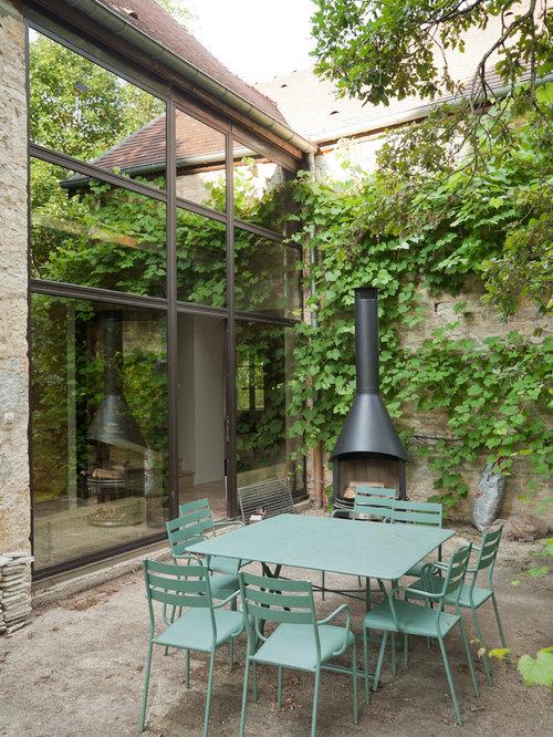 Foton och inspiration till lantliga uteplatser i Dijon