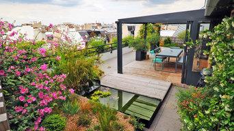 Une terrasse au dessus des toits