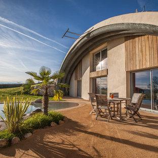 Idées déco pour une terrasse arrière contemporaine avec aucune couverture.