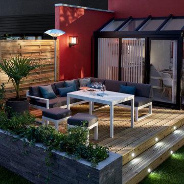Une terrasse illuminée pour prolonger les soirées
