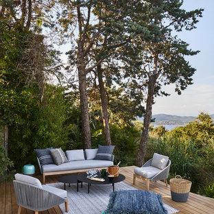 Inspiration pour une terrasse marine.