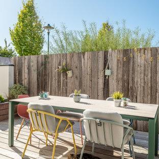 Idée de décoration pour une terrasse urbaine.