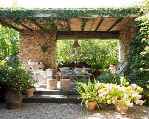 Photos et id es d co de terrasses avec des plantes en pots campagne - Decorer une terrasse avec des plantes ...