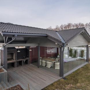 Неиссякаемый источник вдохновения для домашнего уюта: терраса в классическом стиле