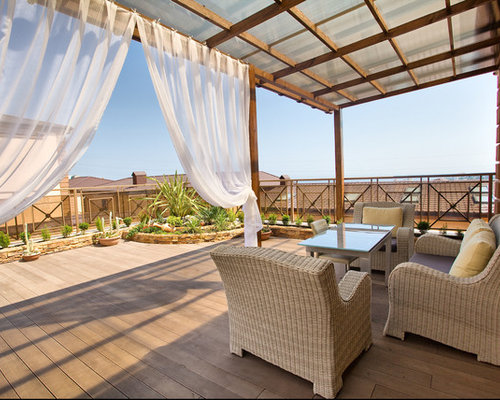 mediterrane dachterrasse ideen design bilder houzz. Black Bedroom Furniture Sets. Home Design Ideas