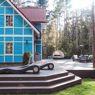 Свежая идея для дизайна: терраса в современном стиле - отличное фото интерьера