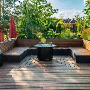 Источник вдохновения для домашнего уюта: терраса в современном стиле без защиты от солнца