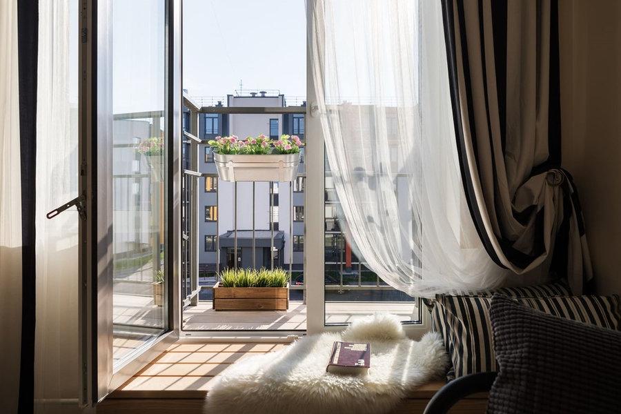 "Смарти-балкон в студии ЖК ""INKERI"" 23,84 м2"