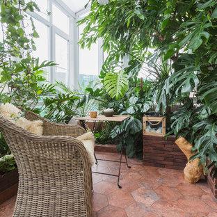 Diseño de terraza exótica pequeña