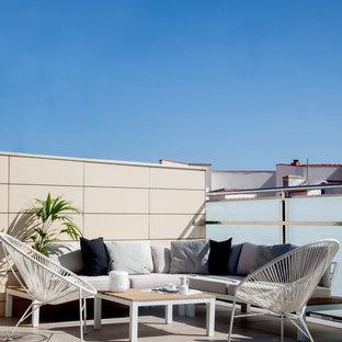 Foto de terraza actual, sin cubierta, en azotea
