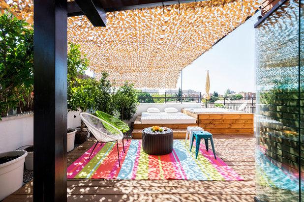 Contemporáneo Terraza y balcón by Adam Bresnick Architects