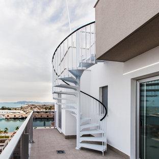 Immagine di una terrazza stile marinaro sul tetto con un pontile