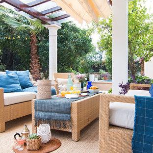 Modelo de terraza mediterránea con pérgola