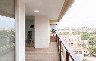 Casas Houzz: Estilo minimal en un piso con una terraza increíble