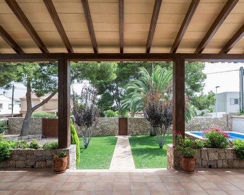 Houzz mediterranean porch design ideas remodel pictures for Mediterranean front porch designs