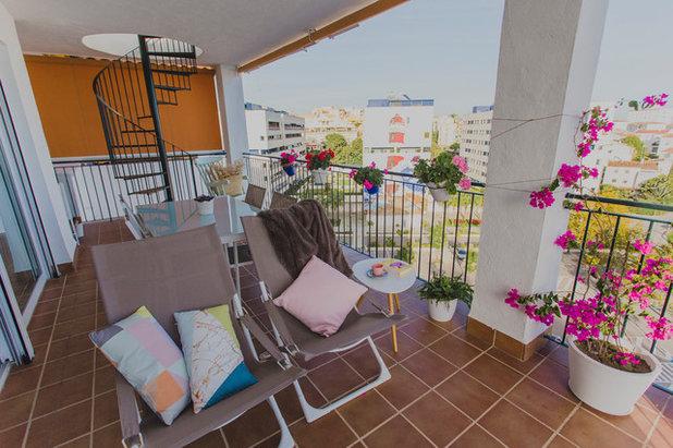 Romántico Terraza y balcón by Alicia Fuertes