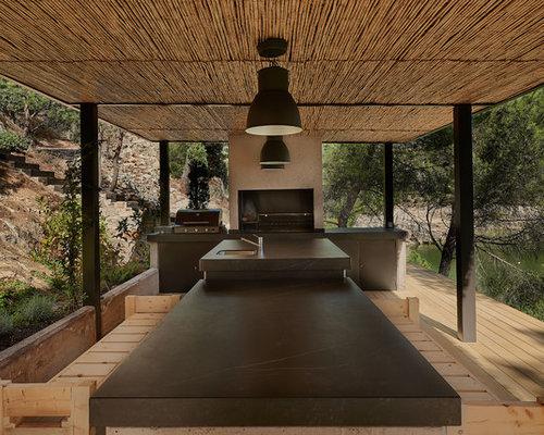 Outdoor Küche Landhausstil : Terrasse mit outdoor küche spanien ideen design bilder houzz