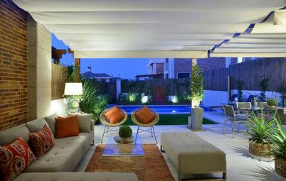 Un jardín en Madrid recupera la conexión interior-exterior