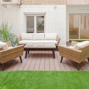 Imagen de terraza actual en patio trasero