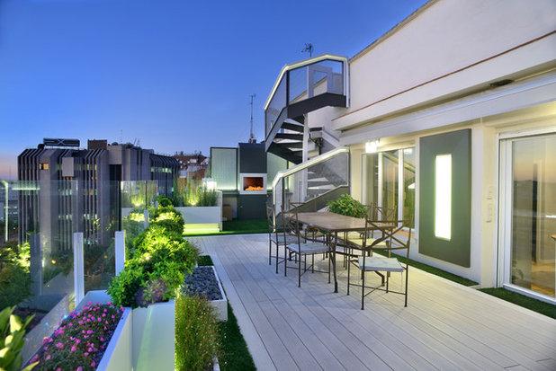Moderno Terraza y balcón by Fernando Pozuelo Landscaping Collection