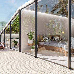 Design ideas for an expansive mediterranean deck in Other.