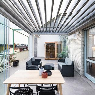 Immagine di una terrazza design