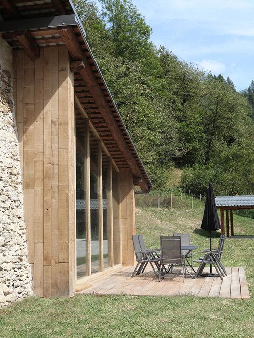 Foto e idee per patii e portici patio o portico in montagna for Portico rustico