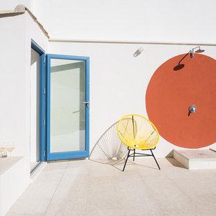 Idee per una terrazza mediterranea sul tetto con nessuna copertura