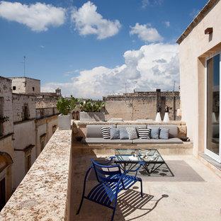 Foto di terrazze e balconi mediterranei di medie dimensioni e sul tetto