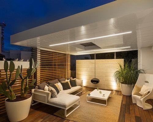 Idee e foto di terrazzi e balconi contemporanei for Costruttori di case contemporanee