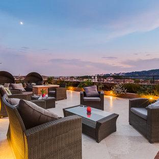 Deck container garden - huge contemporary rooftop rooftop deck container garden idea in Rome