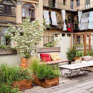 Ispirazione per una terrazza stile shabby