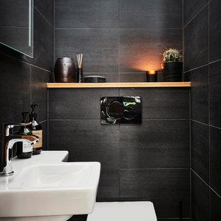 Photos et idées déco de WC et toilettes modernes avec des carreaux ...