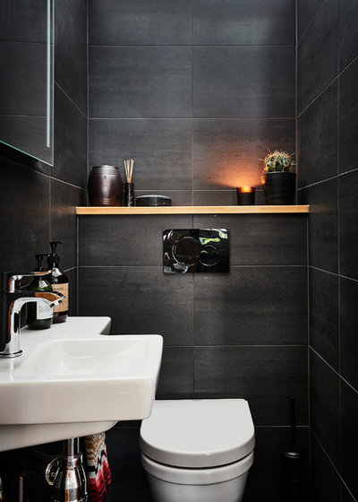 Modern Powder Room by A3 Byggprojekt AB