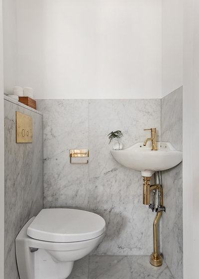 Scandinavian Powder Room by Scandinavian Homes