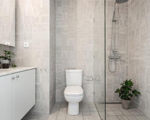 skandinavische g stetoilette g ste wc mit beigefarbenen fliesen ideen f r g stebad und g ste. Black Bedroom Furniture Sets. Home Design Ideas