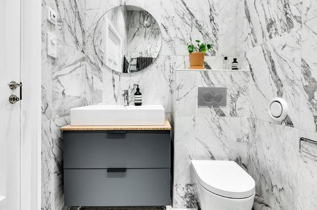 Scandinavian Powder Room by Max Martin Construction