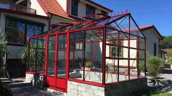 Rött växthus i Alingsås