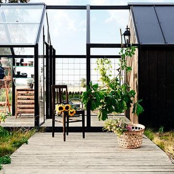 Trädgård och uteplats i färg