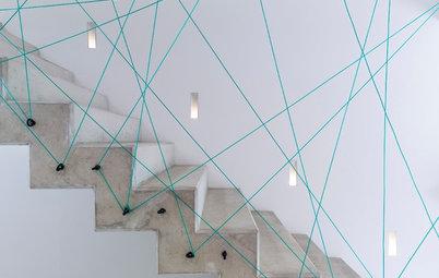 16 ideen wie sie treppen streichen und treppenstufen dekorieren. Black Bedroom Furniture Sets. Home Design Ideas