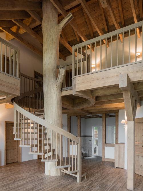 Rustikale treppen ideen design bilder houzz - Treppen ideen ...