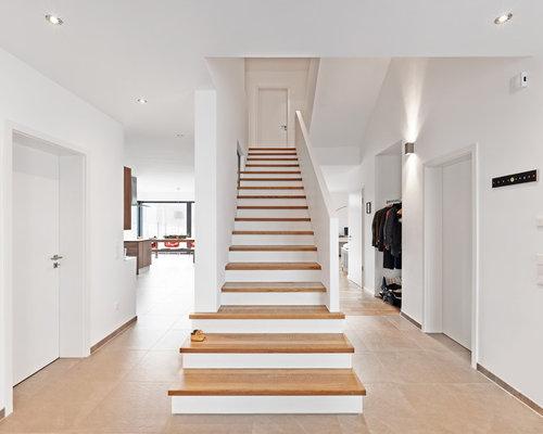 treppe idee gerade. Black Bedroom Furniture Sets. Home Design Ideas