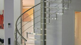 Elegante Spindeltreppe