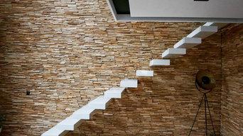 Freischwebende Treppe Premium White